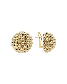 LAGOS 18K Gold Caviar Bold Button Stud Earrings - Bloomingdale's_0