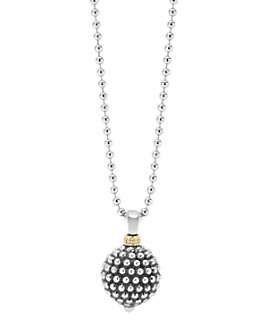 LAGOS - Sterling Silver Caviar Ball Pendant Necklace, 34""