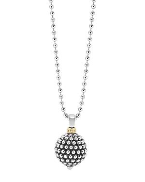 Lagos Sterling Silver Caviar Ball Pendant Necklace, 34