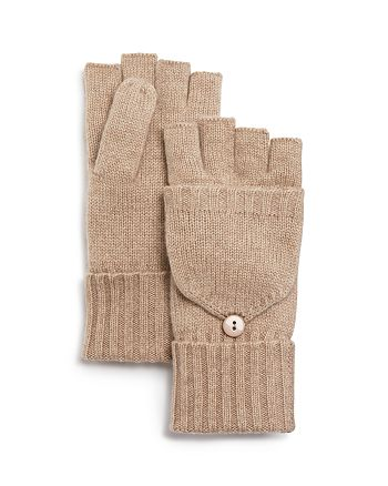 C by Bloomingdale's - Pop Top Cashmere Mittens - 100% Exclusive
