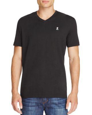 PSYCHO BUNNY V-Neck T-Shirt in Black