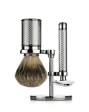 Baxter of California Double-Edge Safety Razor & Badger Brush Set