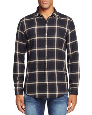 The Men's Store at Bloomingdale's Plaid Flannel Regular Fit Button Down - 100% Exclusive