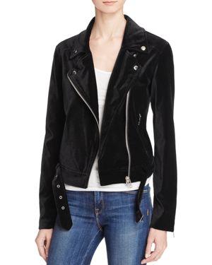Paige Shanna Velvet Moto Jacket