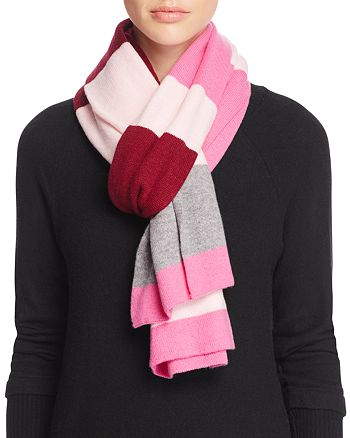 C by Bloomingdale's - Variegated Striped Scarf - 100% Exclusive