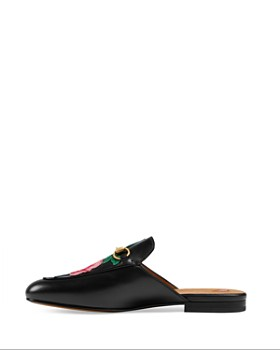 0fa39841d33 Gucci - Women s Embroidered Leather Princetown Mules Gucci - Women s  Embroidered Leather Princetown Mules
