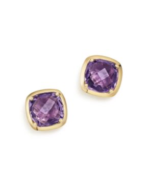 Amethyst Square Stud Earrings In 14k Yellow Gold 100 Exclusive