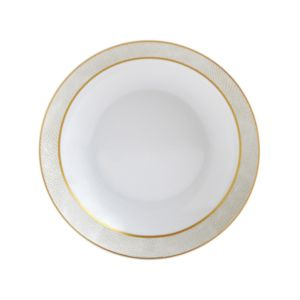 Bernardaud Sauvage White Coupe Soup Bowl