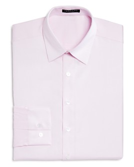 Vardama - Lafayette Solid Stain Resistant Regular Fit Dress Shirt