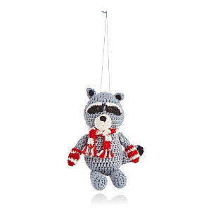 Melange Crochet Raccoon Ornament