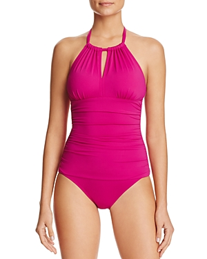 Tommy Bahama Pearl High Neck One Piece Swimsuit