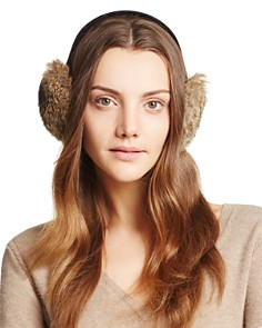 Surell Rabbit Fur Ear Muffs - Bloomingdale's_0