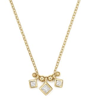 Zoe Chicco 14K Yellow Gold Necklace with Bezel Set Diamonds, 15