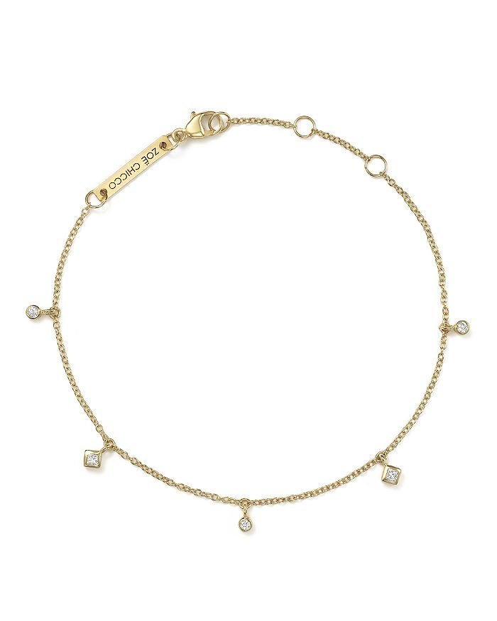 ZoË Chicco 14k Yellow Gold Bracelet With Diamonds