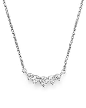 Graduated Diamond Necklace in 14K White Gold, .75 ct. t.w.