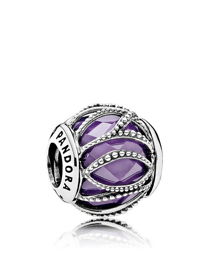 Pandora - Sterling Silver, Cubic Zirconia & Glass Intertwining Charm