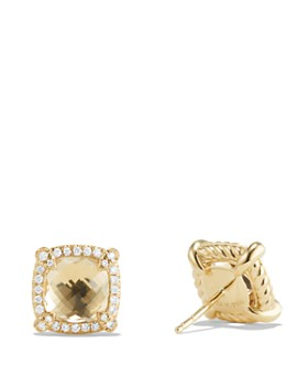 David Yurman - Châtelaine Pavé Bezel Stud Earrings with Gemstones & Diamonds