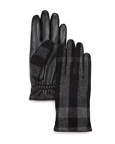 Burberry Oscar Woven Check Gloves - Bloomingdale's_0