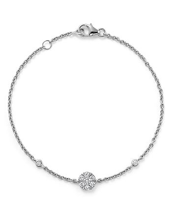 Bloomingdale's - Diamond Station Bracelet in 14K White Gold, .25 ct. t.w.- 100% Exclusive