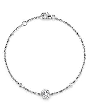 Diamond Station Bracelet in 14K White Gold, .25 ct. t.w. - 100% Exclusive