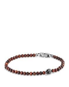 David Yurman - Spiritual Beads Skull Bracelet with Red Tiger's Eye in Sterling Silver