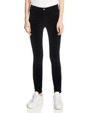 Maje Giverny High-Rise Velvet Pants