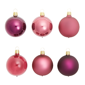 Bloomingdale's Shiny and Matte Purple Glass Ball Ornaments, Set of 6 - 100% Exclusive