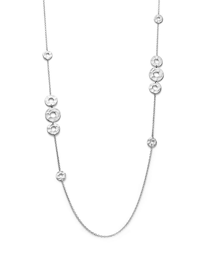 IPPOLITA - Sterling Silver Senso™ Mixed Open Disc Station Necklace, 38""