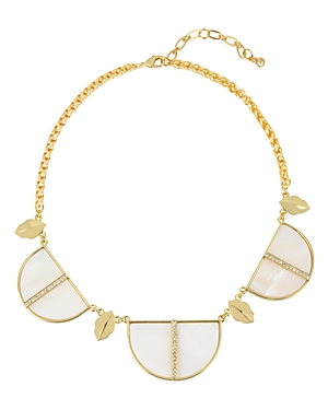 Charm & Chain Mother-of-Pearl Statement Necklace, 17