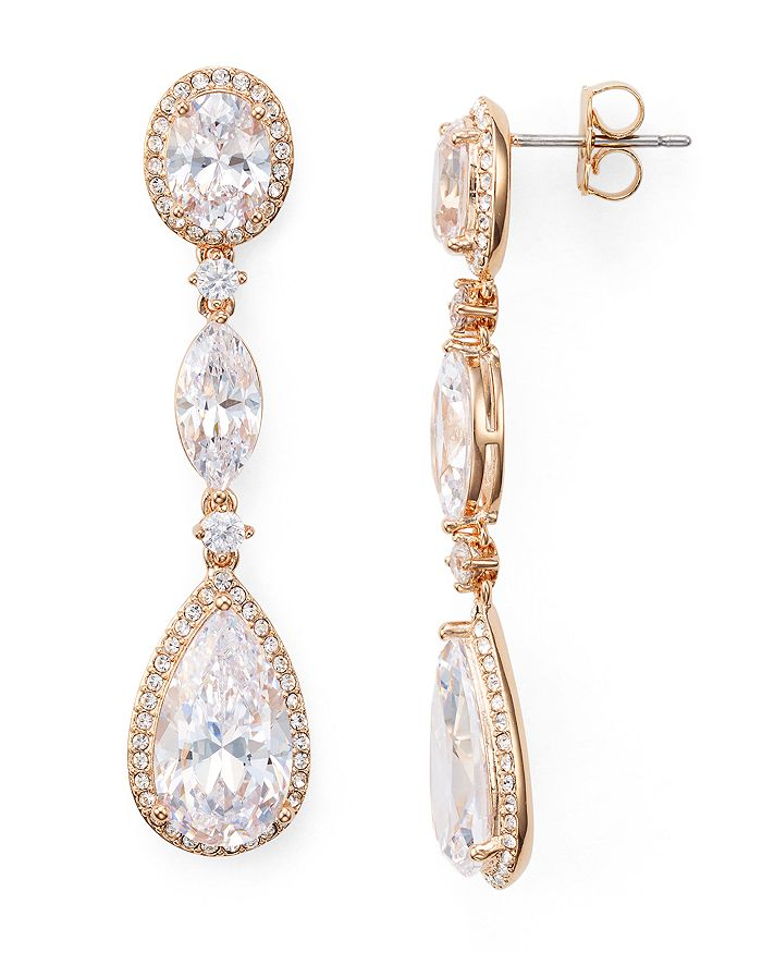 Nadri - Oval, Marquis & Pear Shaped Drop Earrings
