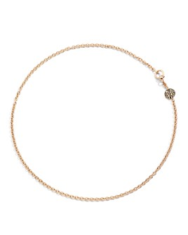 Pomellato - Sabbia Necklace with Brown Diamonds in 18K Rose Gold