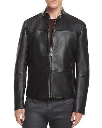 HUGO - Lefox Leather Moto Jacket