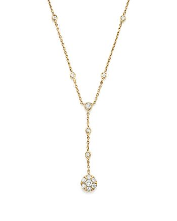 Bloomingdale's - Diamond Station Y Necklace in 14K Yellow Gold, .40 ct. t.w. - 100% Exclusive