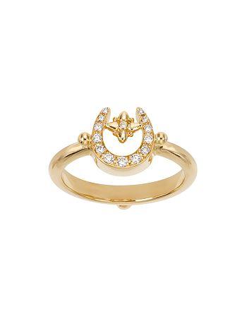 Temple St. Clair - 18K Yellow Gold Pavé Diamond Mini Horseshoe Ring