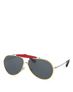 Prada Pr 56SS Pilot Sunglasses, 59mm