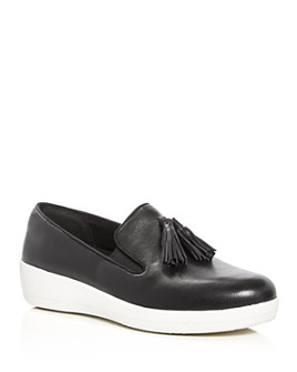 FitFlop - Women's Superskate Leather Tassel Sneaker Loafers