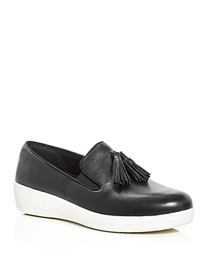 FitFlop Women's Superskate Leather Tassel Sneaker Loafers