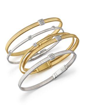 Marco Bicego Masai 18K Yellow Gold 11-Strand Bracelet with Diamond Stations MywqF