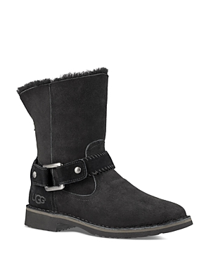 Ugg Cedric Sheepskin and Leather Belted Booties