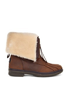 UGG® Arquette Sheepskin and Nubuck Zip Booties - Bloomingdale's_0