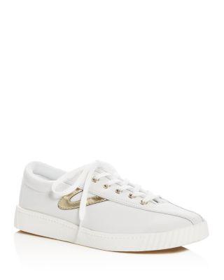 Plus Metallic Stripe Lace Up Sneakers