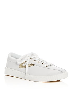 Tretorn - Women's Nylite 2 Plus Metallic Stripe Lace Up Sneakers