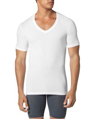 TOMMY JOHN Second Skin Micromodal Deep V-Neck Undershirt in White
