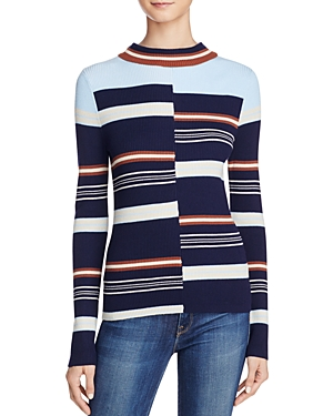 525 America Ribbed Striped Sweater
