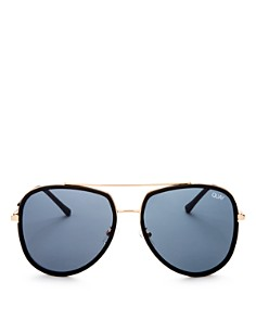 Quay - Women's Needing Fame Brow Bar Aviator Sunglasses, 60mm
