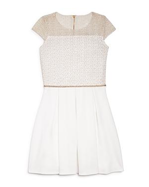 David Charles Girls Lace Overlay Pleated Dress  Sizes 716