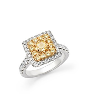 Bloomingdale's - Yellow and White Diamond Ring in 18K White Gold - 100% Exclusive