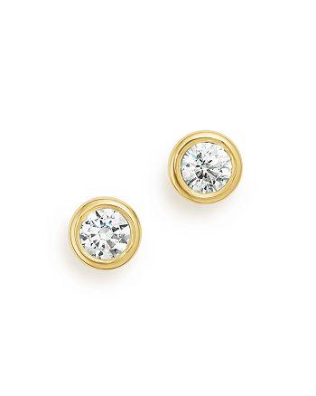 Bloomingdale's - Diamond Bezel Stud Earrings in 14K Yellow Gold, .33 ct. t.w. - 100% Exclusive