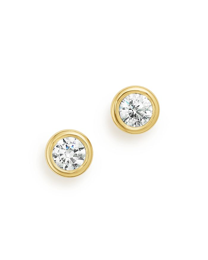 Bloomingdale's DIAMOND BEZEL STUD EARRINGS IN 14K YELLOW GOLD, 0.33 CT. T.W. - 100% EXCLUSIVE