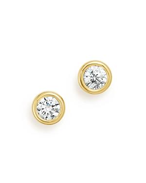 Diamond Bezel Stud Earrings in 14K Yellow Gold, .33 ct. t.w. - 100% Exclusive